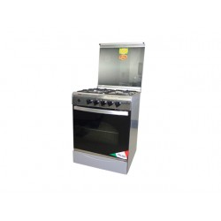 CUISINIERE UNIVERSELLE 5508 4 FEUX 60X60 INOX