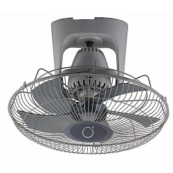 Ventilateur de Plafond - 3 Vitesses - Global air - Gris